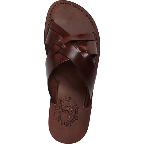 Jerusalem Sandals Men/'s Jesse Slide Sandals Black