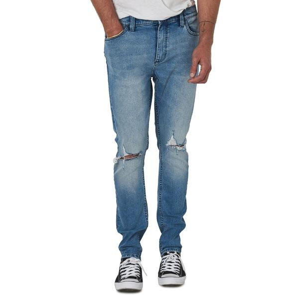 ローラズ メンズ カジュアルパンツ ボトムス ROLLA'S Tim Slims Fast Times Worn Destroyed Slim Fit Jeans (Light Blue) Light Blue