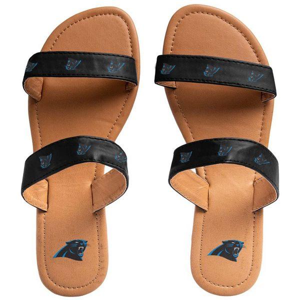 フォコ レディース サンダル シューズ Carolina Panthers Women's Double Strap Sandals