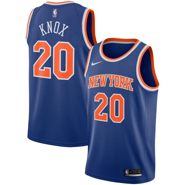 ナイキ メンズ ユニフォーム トップス Kevin Knox New York Knicks Nike 2019/2020 Swingman Jersey Association Edition White
