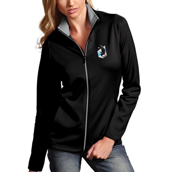 アンティグア レディース ジャケット&ブルゾン アウター Minnesota United FC Antigua Women's Leader Full Zip Jacket Black