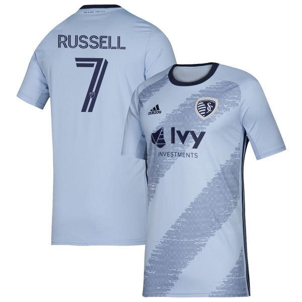 アディダス メンズ ユニフォーム トップス Johnny Russell Sporting Kansas City adidas 2020 Primary Replica Player Jersey Sky Blue