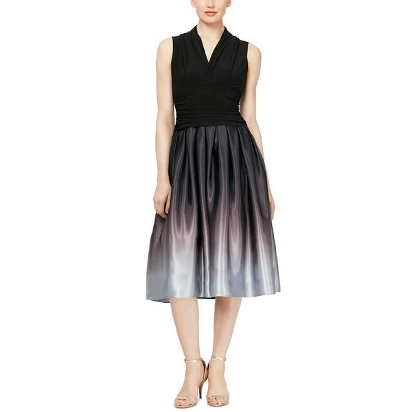 エス エル ファッションズ 日時指定 レディース トップス ブランド買うならブランドオフ ワンピース 全商品無料サイズ交換 Dress Ombré Party Silver Black