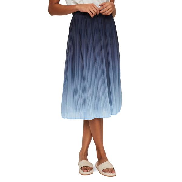 ヴェロモーダ レディース スカート ボトムス Luna Pleat Skirt Placid Blue