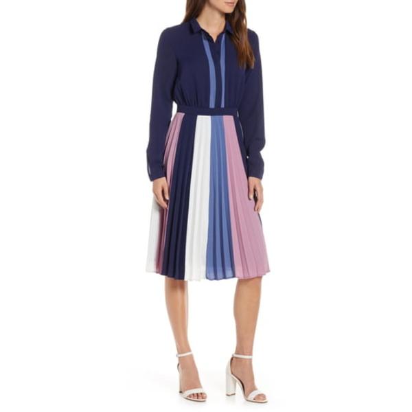 ワンナインオーワン レディース ワンピース トップス Colorblock Midi Dress Blue Multi