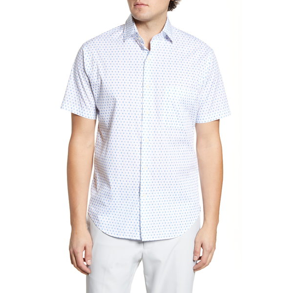 ピーター・ミラー メンズ シャツ トップス Catch Of The Day Regular Fit Short Sleeve Button-Up Shirt Lazuline