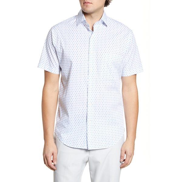 ピーター・ミラー メンズ シャツ トップス Catch Of The Day Regular Fit Short Sleeve Button-Up Shirt Lazuline