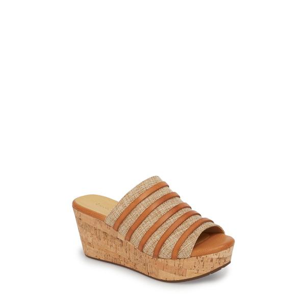 ショコラブルー レディース サンダル シューズ Wapi Wedge Sandal Camel Leather