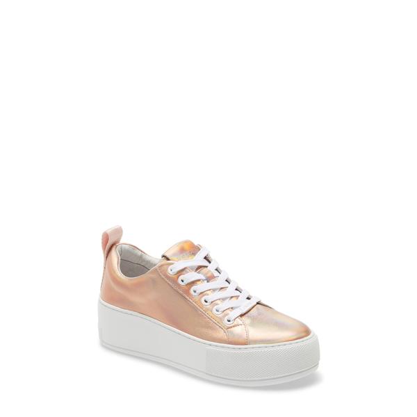 ジェースライズ レディース スニーカー シューズ Margot Platform Sneaker Rose Gold Leather
