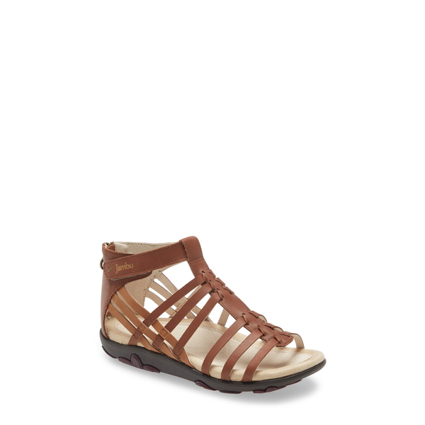 ジャンブー レディース サンダル シューズ Bonsai Gladiator Sandal Brown Leather