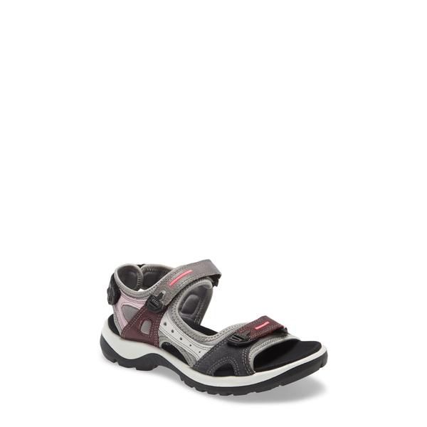 エコー レディース サンダル シューズ Offroad Sandal Multicolor Wine Leather