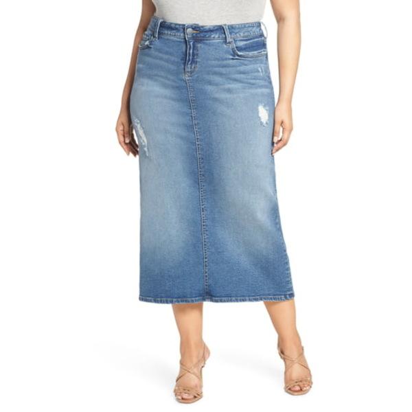 スリンクジーンズ レディース スカート ボトムス Long Denim Skirt Jackie