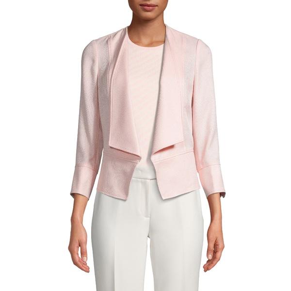 アンクライン レディース ジャケット&ブルゾン アウター Textured Drape Front Jacket Cherry Blossom/ Anne White