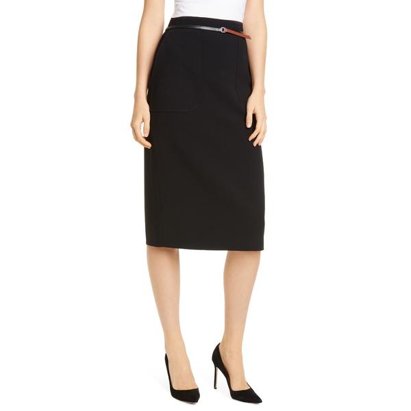 アルチュザラ レディース スカート ボトムス Belted Pencil Skirt 000001 Black