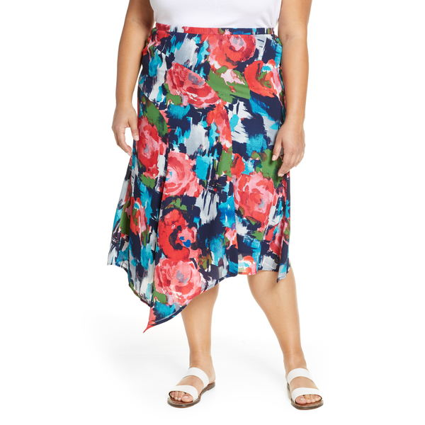 ギブソン レディース スカート ボトムス x International Women's Day Fancy Ashley Asymmetrical Flowy Midi Skirt Angela