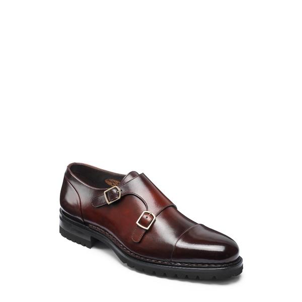 サントーニ メンズ スニーカー シューズ Double Monk Strap Shoe Bordo Leather
