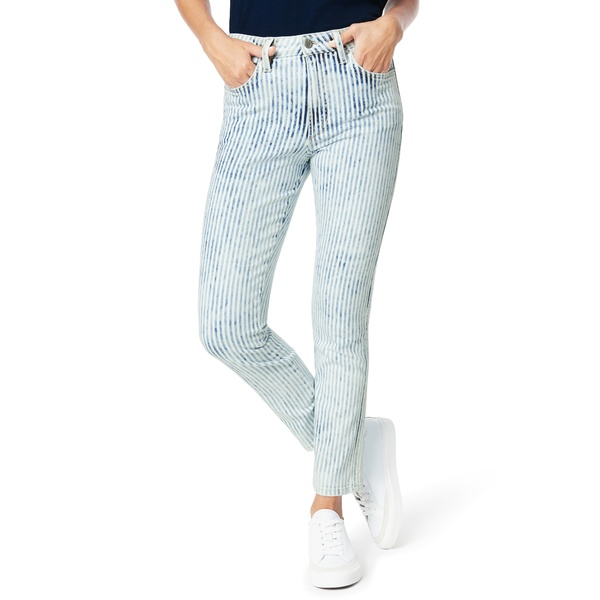 ジョーズ レディース デニムパンツ ボトムス The Luna High Waist Ankle Cigarette Jeans Railroad Stripe