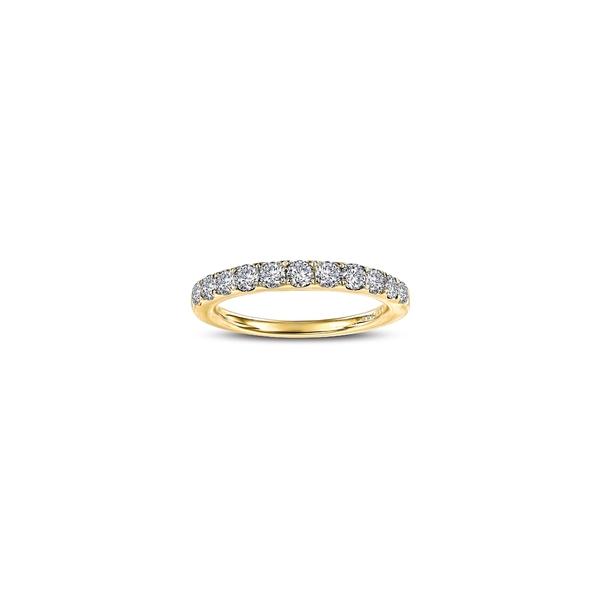 ラフォン レディース リング アクセサリー Simulated Diamond Birthstone Band Ring April - Clear/ Gold