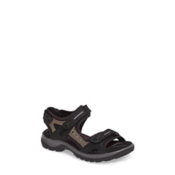 エコー レディース サンダル シューズ Yucatan Sandal Black/ Mole
