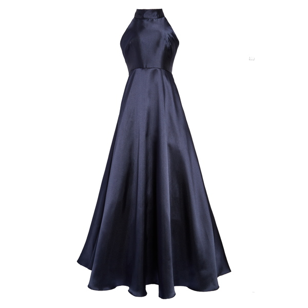 MLモニックルイラー レディース ワンピース トップス Mock Neck Fit & Flare Gown Navy