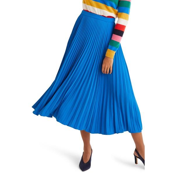 ボーデン レディース スカート ボトムス Kristen Pleated Midi Skirt Bold Blue
