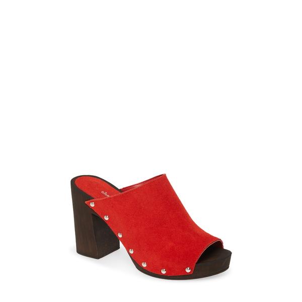 チャールズ・デイビッド レディース サンダル シューズ Electric Slide Sandal Red Suede