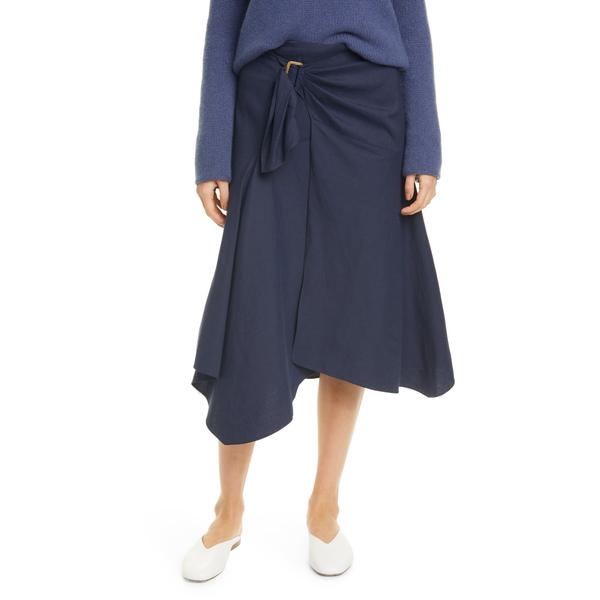 ヴィンス レディース スカート ボトムス Linen Blend Skirt Marine
