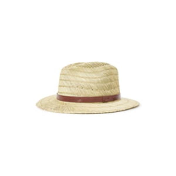 ブリクストン メンズ 帽子 アクセサリー Messer Straw Fedora Tan