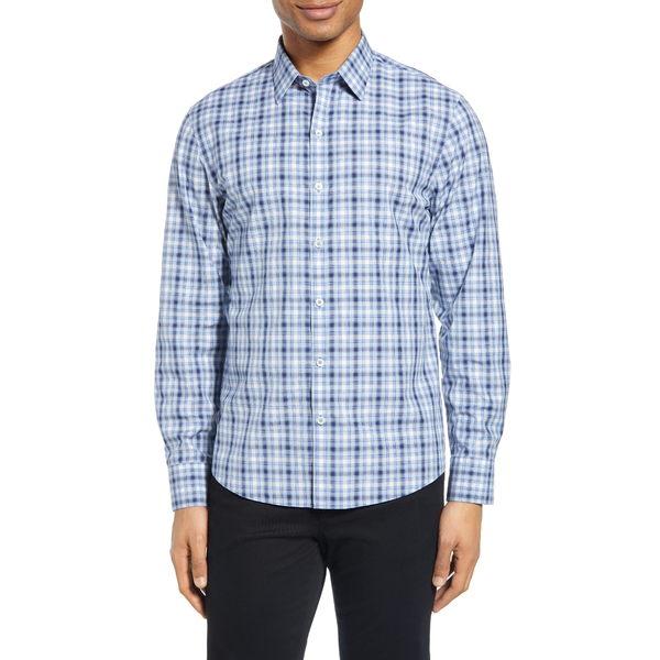 ザッカリープレル メンズ シャツ トップス Thredkeld Plaid Button-Up Shirt Sky Blue
