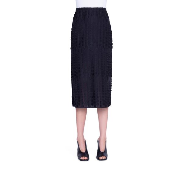 アクリス プント レディース スカート ボトムス Embroidered Dot Cotton Blend Midi Skirt Black