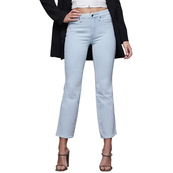 グッドアメリカン レディース デニムパンツ ボトムス Good Curve Notch Straight Leg Jeans Blue409