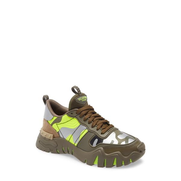 ヴァレンティノ ガラヴァーニ メンズ スニーカー シューズ Chunky Sneaker Lime / Grey