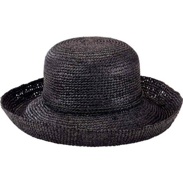 サンディエゴハット レディース アクセサリー 帽子 Black 全商品無料サイズ交換 Crochet Brim RHM6004 Women's Kettle 驚きの値段 Hat 公式 Raffia