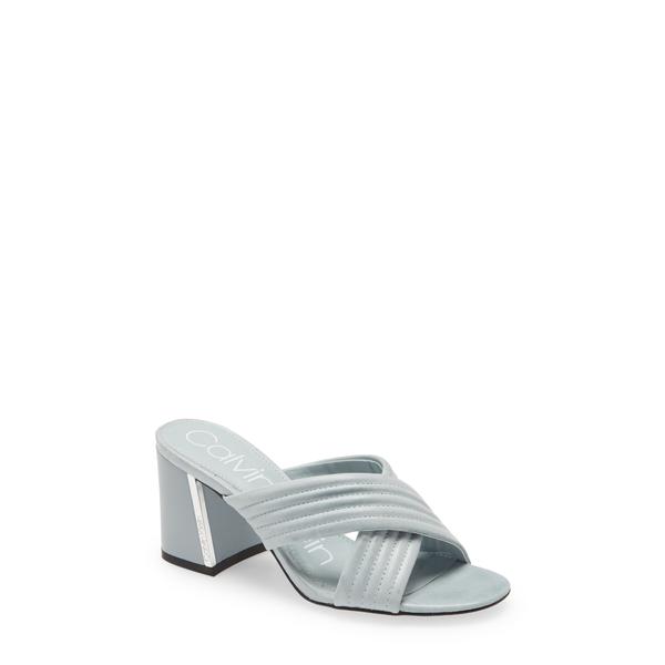カルバンクライン レディース サンダル シューズ Roena Sandal Petal Blue Leather