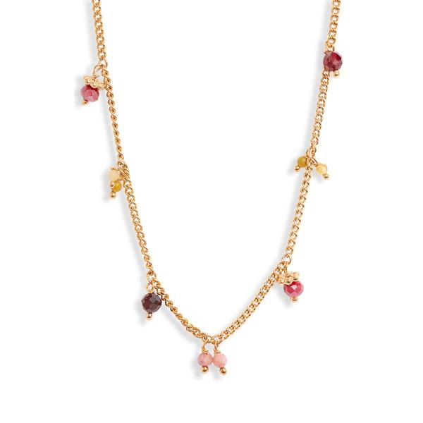カスビジョー レディース ネックレス・チョーカー・ペンダントトップ アクセサリー Gas Bijoux Shaky Charm Necklace Pink