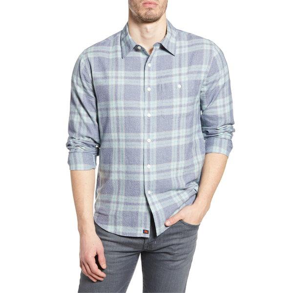 ノーマルブランド メンズ シャツ トップス The Normal Brand Jasper Regular Fit Plaid Button-Up Shirt Indigo Plaid