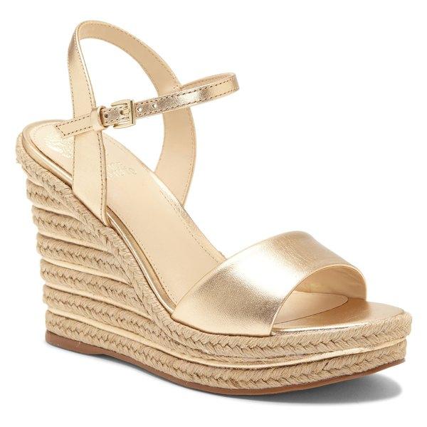 ヴィンスカムート レディース サンダル シューズ Vince Camuto Marybell Platform Wedge Sandal (Women) Egyptian Gold Leather