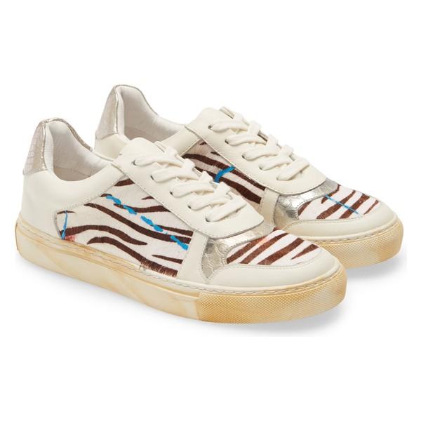 ショコラブルー レディース スニーカー シューズ Chocolat Blu Neza Sneaker (Women) Zebra Print Calf Hair
