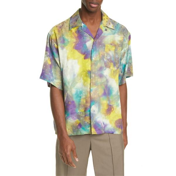 マルニ メンズ シャツ トップス Marni Navetta Jacquard Camp Shirt Yellow Tie Dye