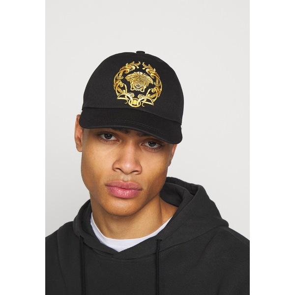 お得クーポン発行中 ヴェルサーチ メンズ アクセサリー 帽子 nero ギフト yljp0005 全商品無料サイズ交換 Cap -