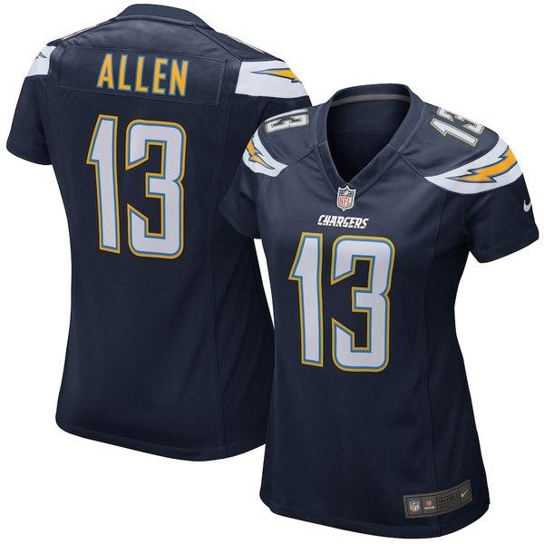 ナイキ レディース シャツ トップス Keenan Allen Los Angeles Chargers Nike Women's Game Jersey Navy Blue