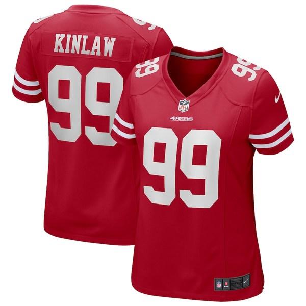 ナイキ レディース シャツ トップス Javon Kinlaw San Francisco 49ers Nike Women's Game Jersey Scarlet