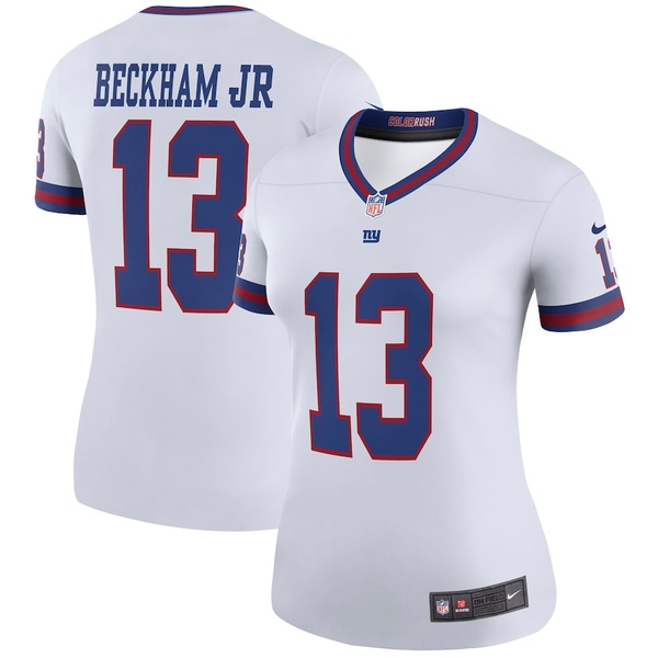 ナイキ レディース シャツ トップス Odell Beckham Jr New York Giants Nike Women's Color Rush Legend Jersey White