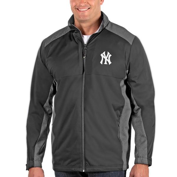 アンティグア メンズ ジャケット&ブルゾン アウター New York Yankees Antigua Revolve Big & Tall Full-Zip Jacket Charcoal