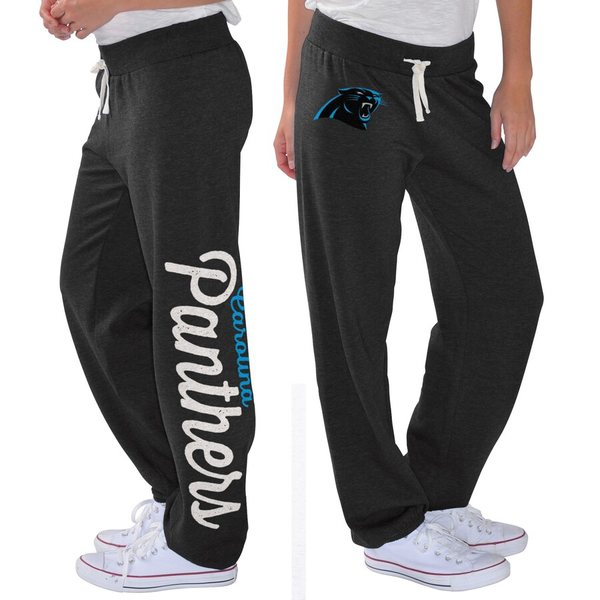 カールバンクス レディース カジュアルパンツ ボトムス Carolina Panthers G-III 4Her by Carl Banks Women's Scrimmage Fleece Pants Black