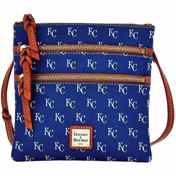ドーネイアンドバーク レディース バックパック・リュックサック バッグ Kansas City Royals Dooney & Bourke Women's Triple Zip Team Color Crossbody Purse Unknown
