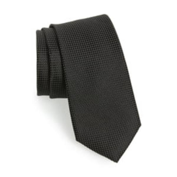 テッドベーカー メンズ ネクタイ アクセサリー Solid Silk Tie Black