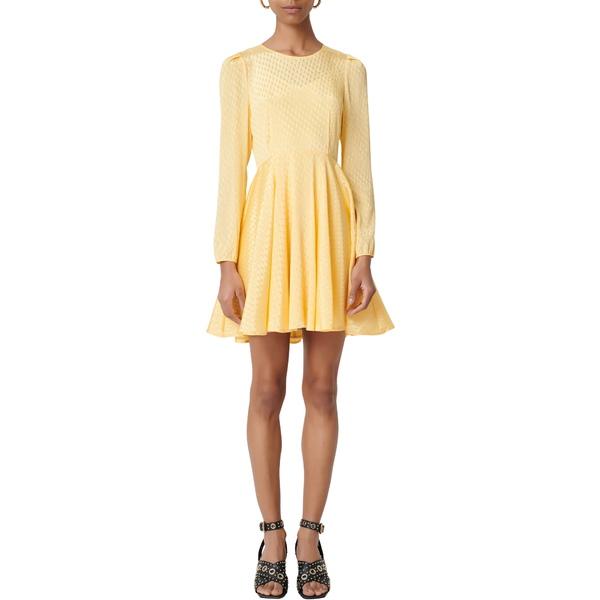 マージュ レディース ワンピース トップス Roseau Long Sleeve Fit & Flare Dress Yellow