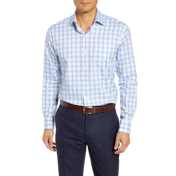 ピーター・ミラー メンズ シャツ トップス Warren Regular Fit Tartan Plaid Shirt Cottage Blue