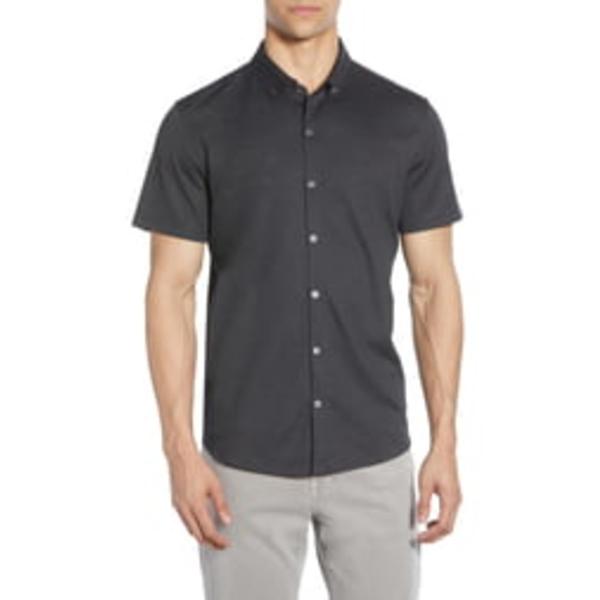 ザッカリープレル メンズ シャツ トップス Caruth Regular Fit Short Sleeve Shirt Black